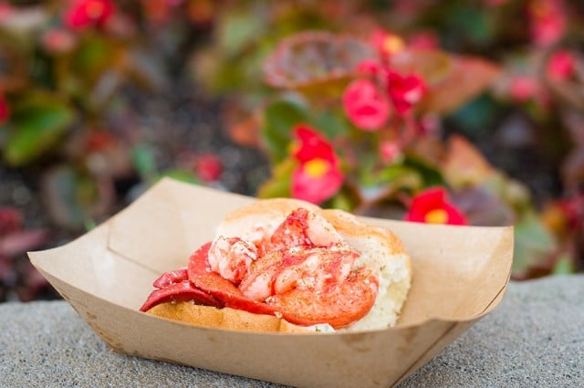 Lobster Roll - the absolute best value for your Disney Dining Plan snack credits during Epcot's Food & Wine Festival!