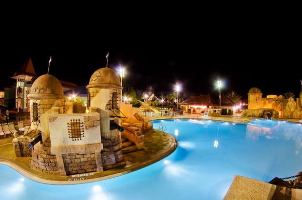 caribbean-beach-resort-pool-night