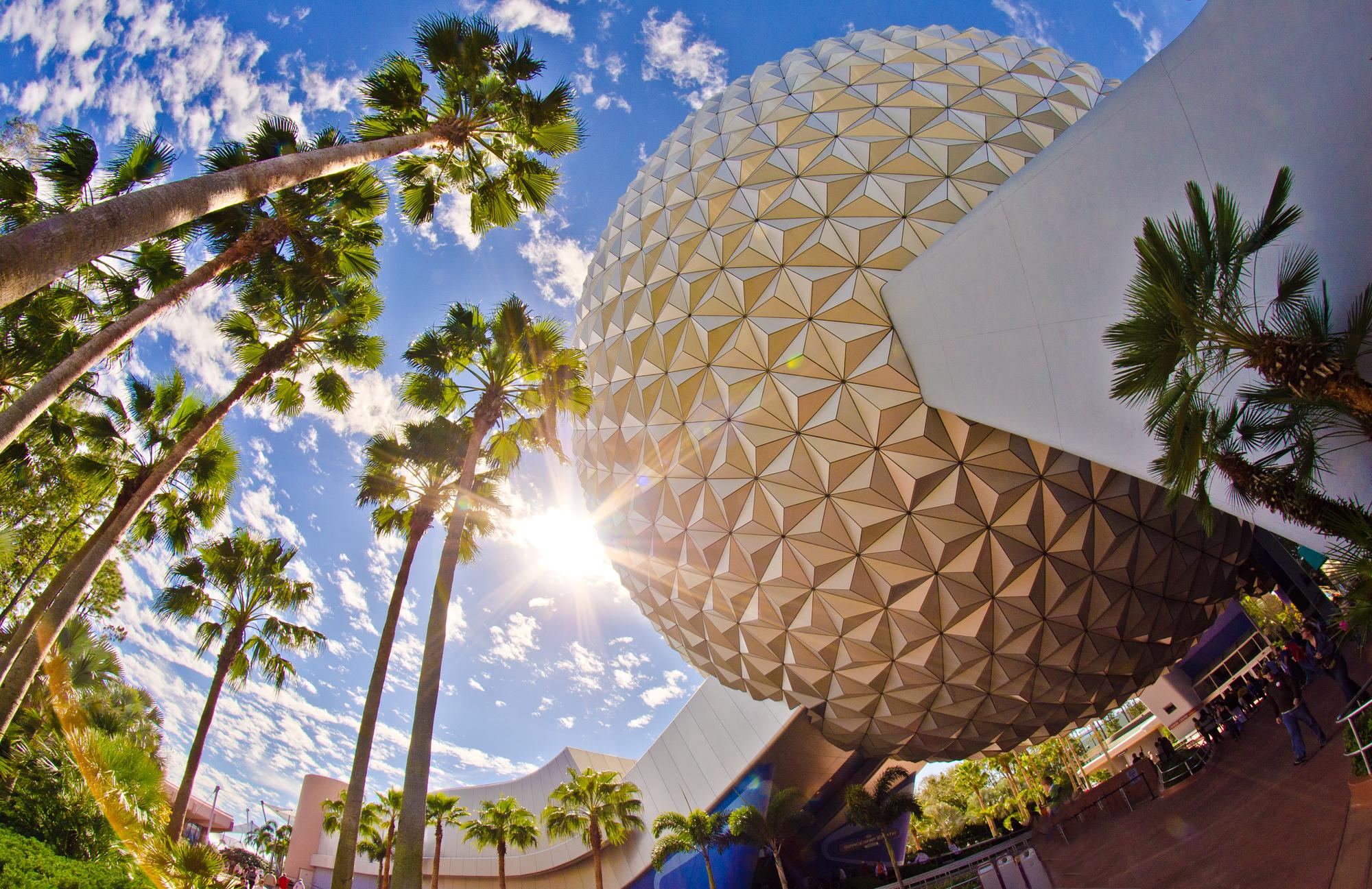 Epcot's Spaceship Earth Sunshine
