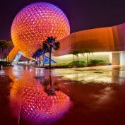 Spaceship Earth Epcot Reflection