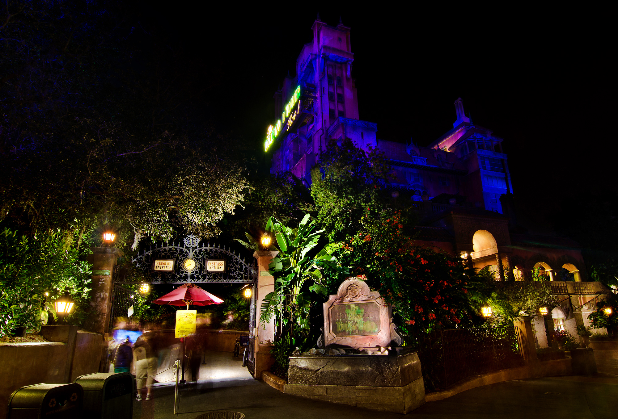Tower of Terror night photo