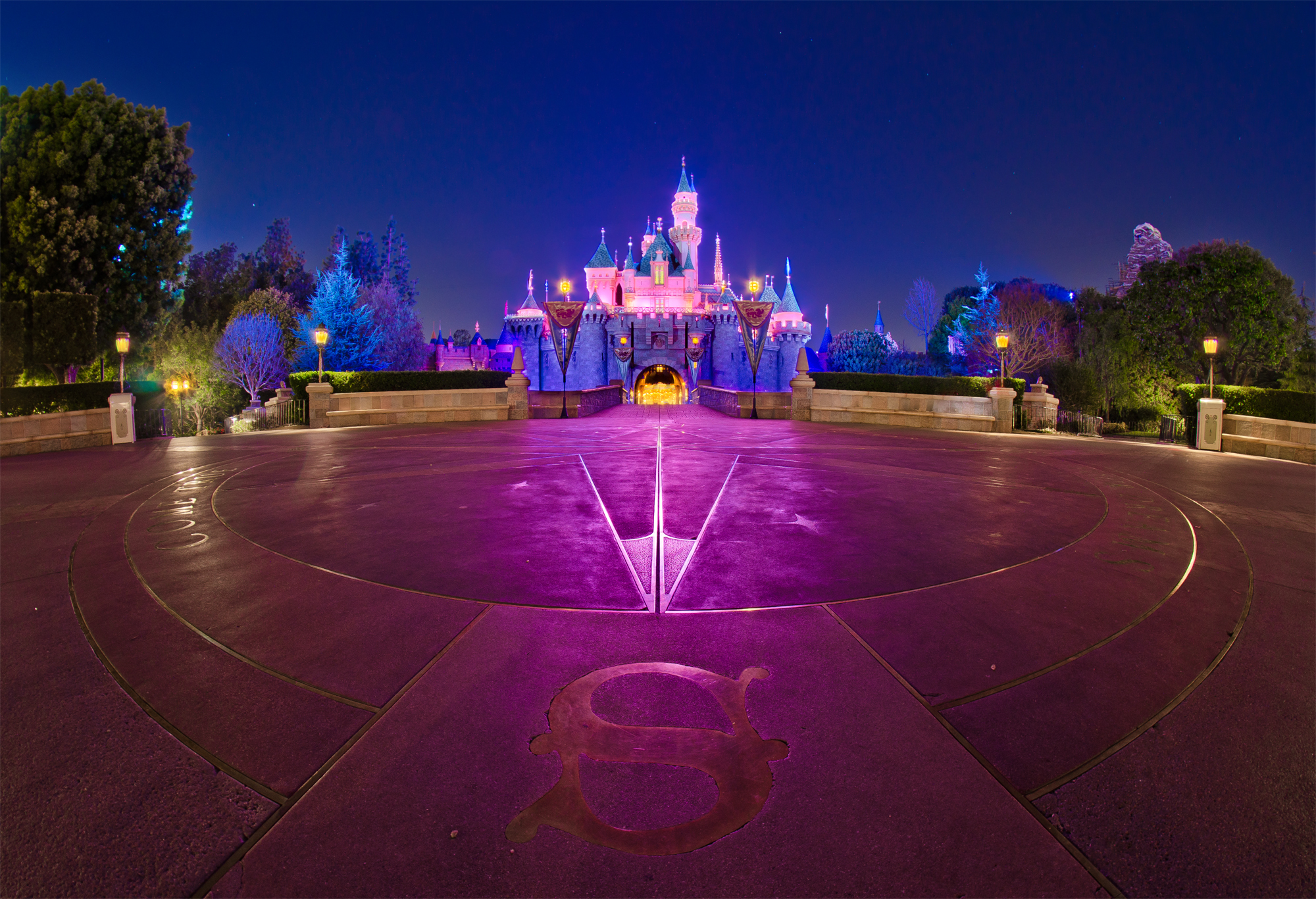 Sleeping Beauty Castle night photo