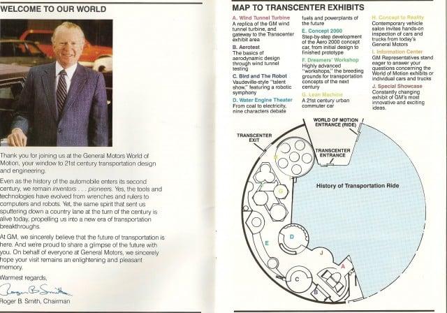 Epcot - World Of Motion - Visitor Handbook - Inside - 1987 Chad Erickson