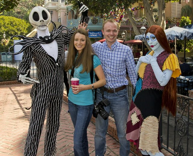 Jack Skellington and Sally - Mickey's Not So Scary Halloween Party Tips
