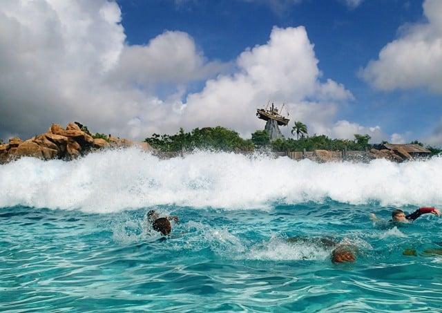 Typhoon Lagoon Wave Pool Surfing