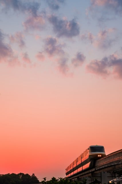 monorail-negative-space-sunrise