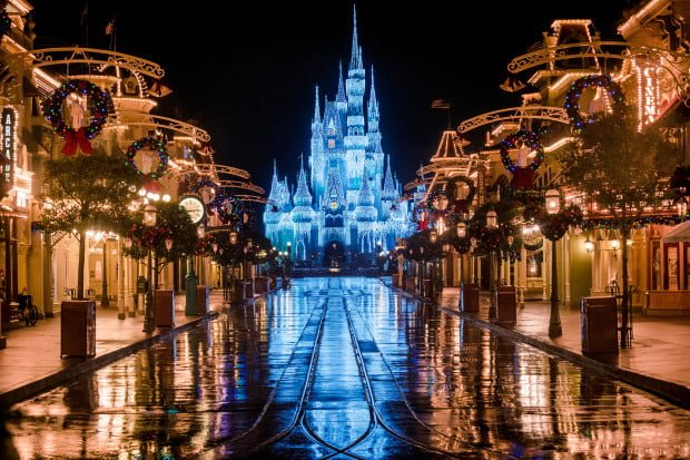 Image result for disney castle at christmas