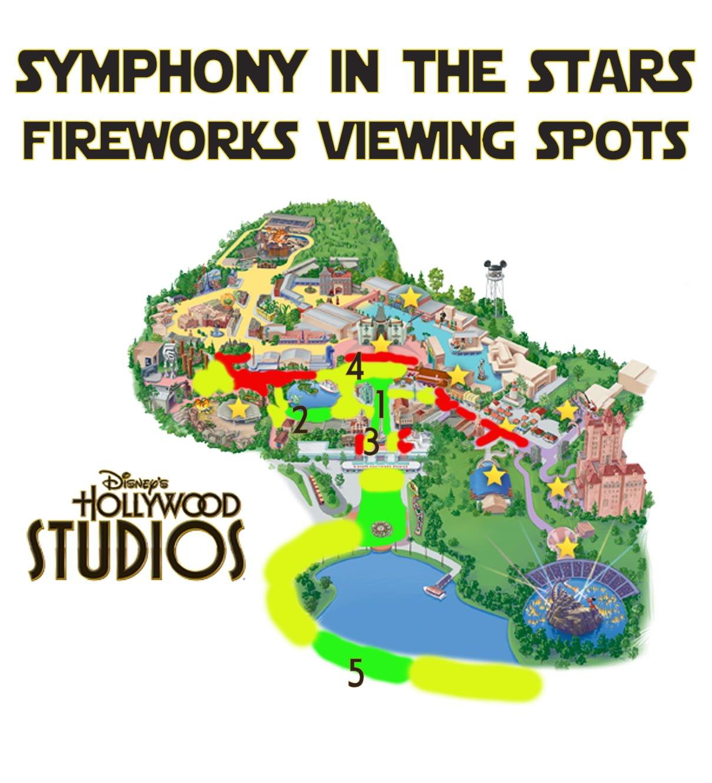 Best Disneys Hollywood Studios Fireworks Spots Disney Tourist Blog – Tourist Map Of Hollywood