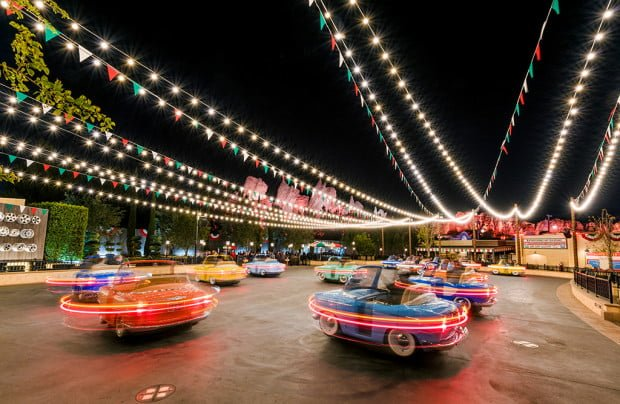 luigis-rollicking-roadsters-disney-california-adventure-night-spinning-bricker