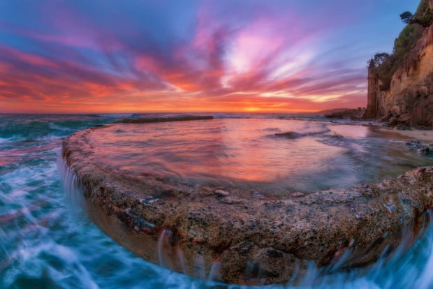 victoria-beach-sunset-fisheye-tide-pool-bricker-laguna-beach copy