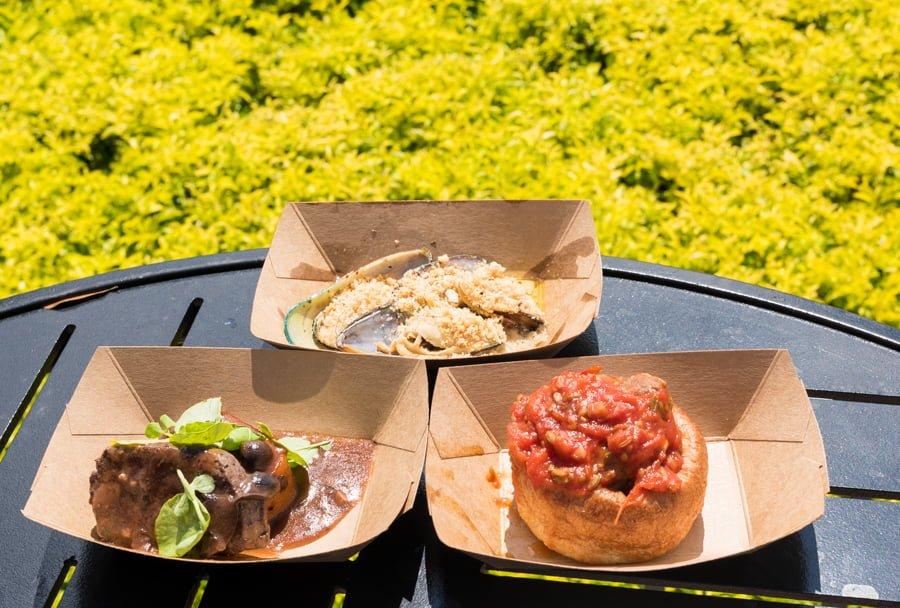 Disney Food Blog  Epcot Wine Festival Booths Menus Photos