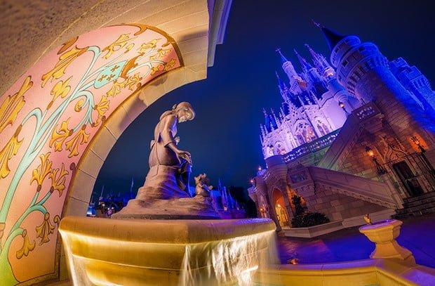 cinderella-fountain-castle-fisheye-wdw