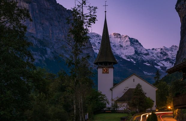 lauterbrunnen-church-dawn-swiss-alps-switzerland-bricker