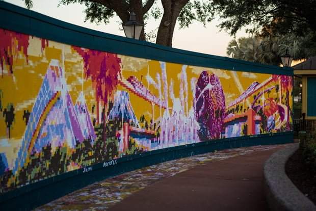 Epcot festival of the arts review disney tourist blog for Disney world mural