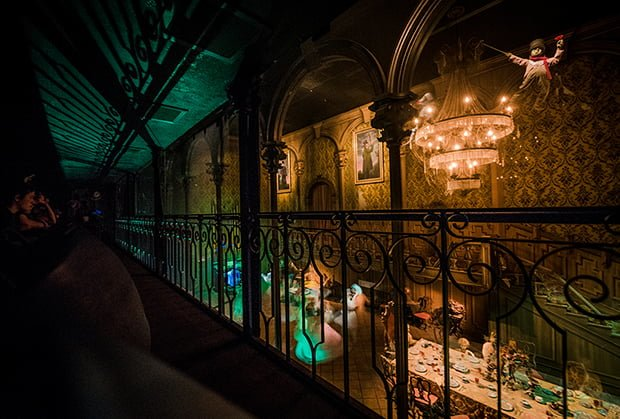Haunted Mansion Dining Room Ride