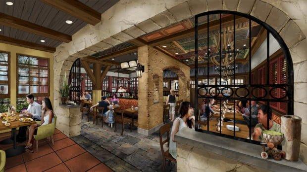 Image result for new italian restaurant disney spring fall